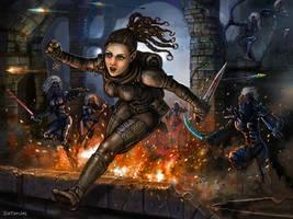 Lidda the Rogue by SirTiefling
