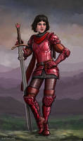 A Hearty Lady Knight