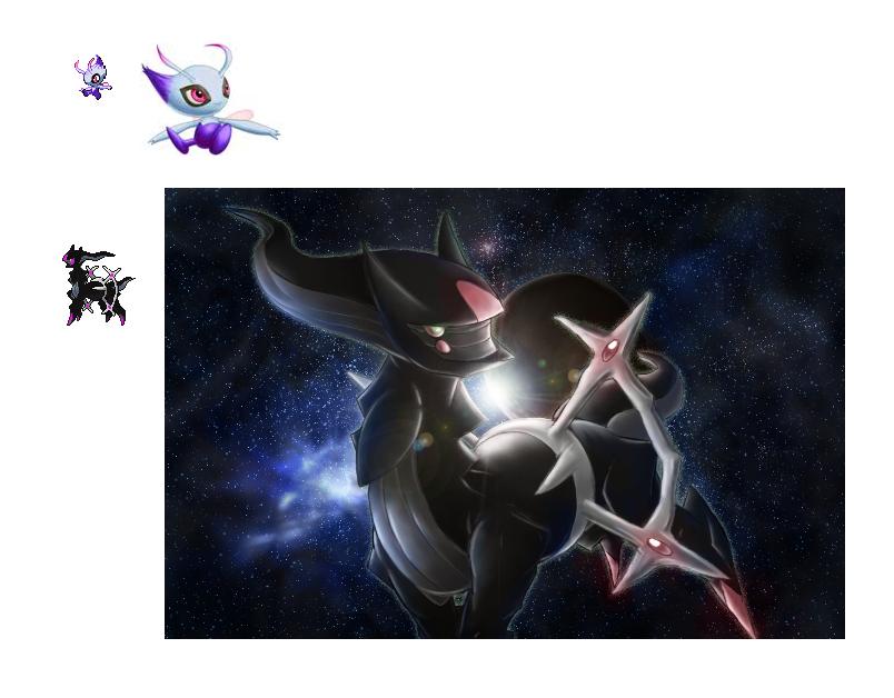 Shadow Arceus and Shadow Celebi Sprite by KellenLegendary ...