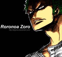 . Roronoa Zoro . by LadyNoa