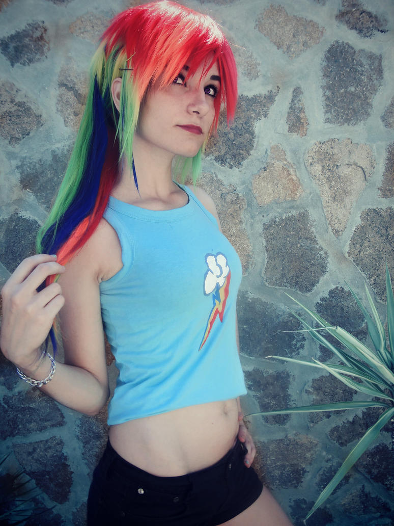 Rainbow dash Cosplay [2] by LadyNoa