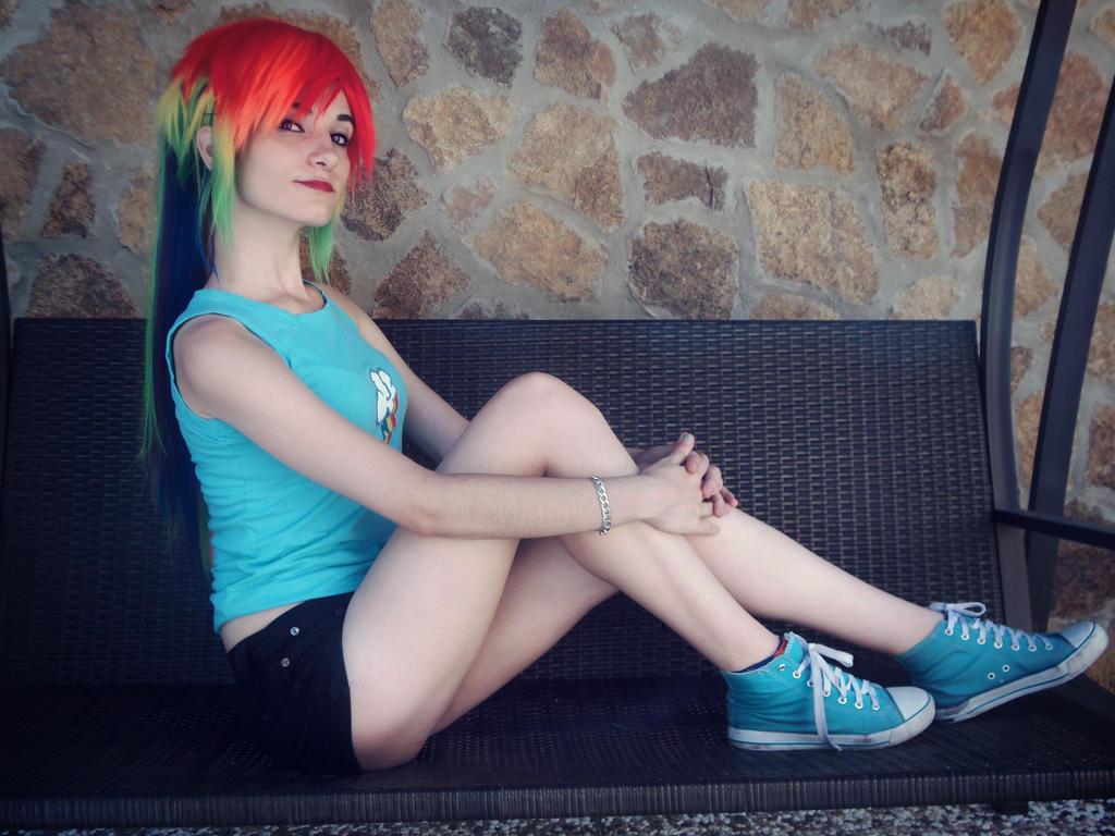Rainbow dash Cosplay [3] by LadyNoa