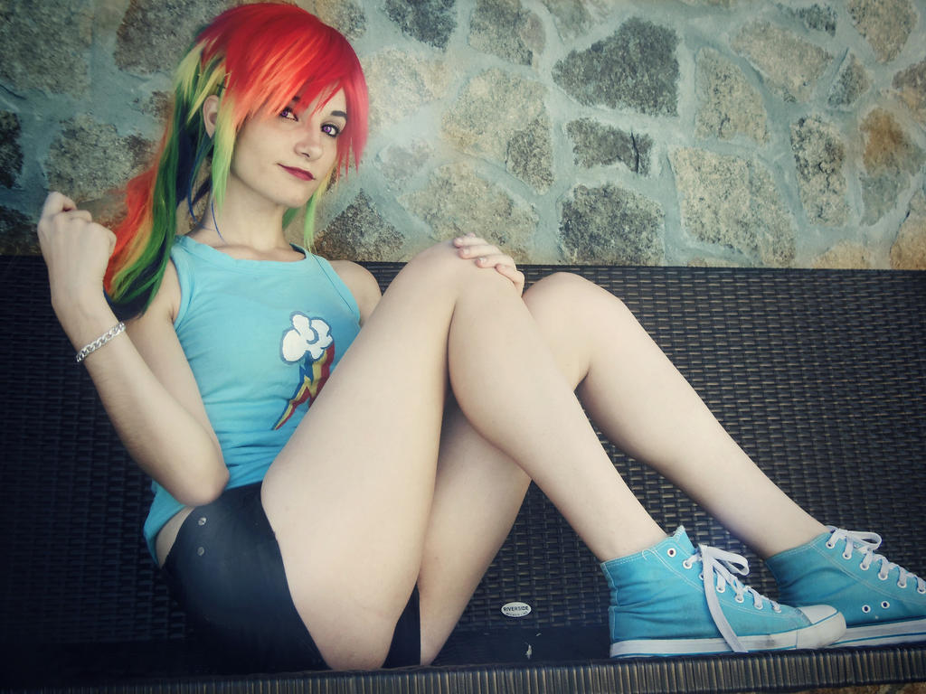Rainbow dash Cosplay [4] by LadyNoa