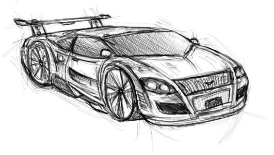 Car Sketch by ya3 on DeviantArt