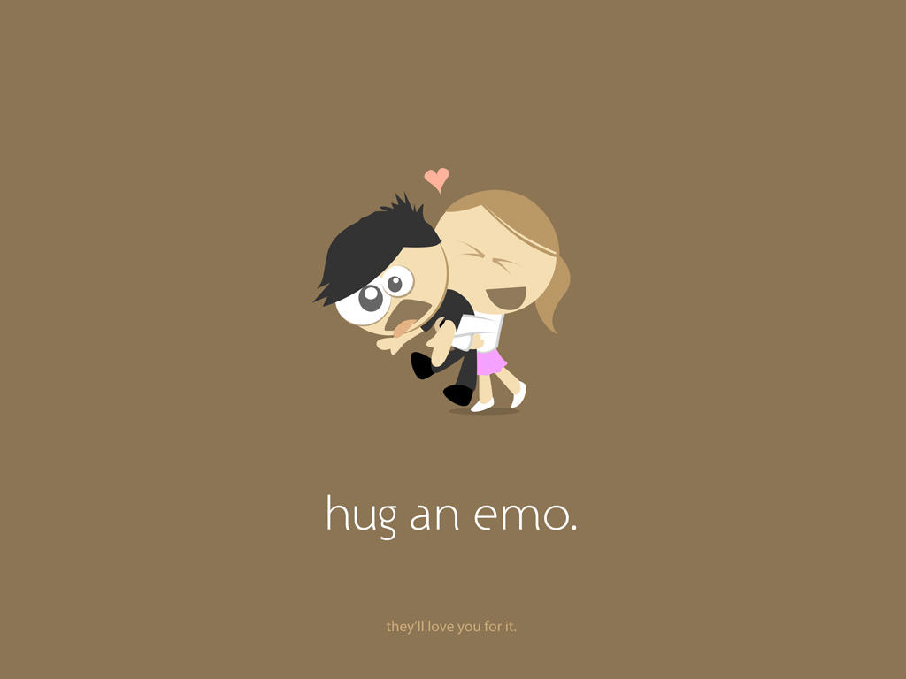 hug an emo - brown by ya3