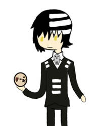 Death the Kid in Adventure Time Style by the-perfect-symmetry