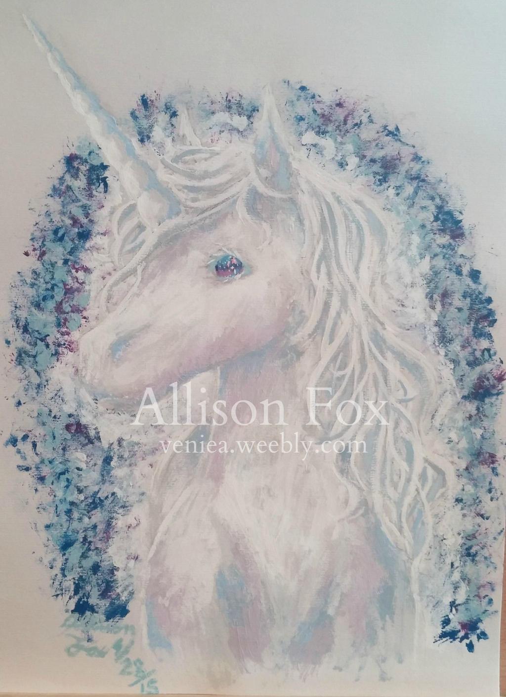 Unicorn Painting by Veniea
