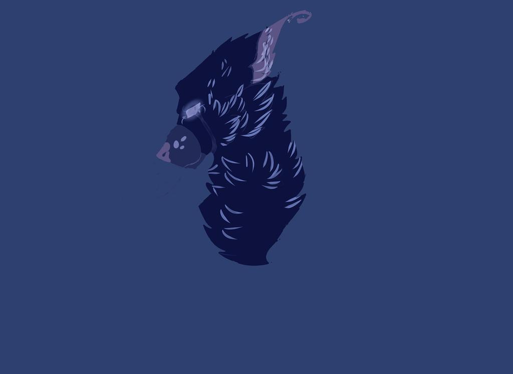 Sad Wolf by blandy-wolf098YT
