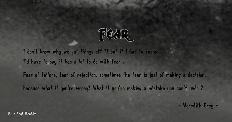 Greys Anatomy Quotes Fear By Engigen On Deviantart