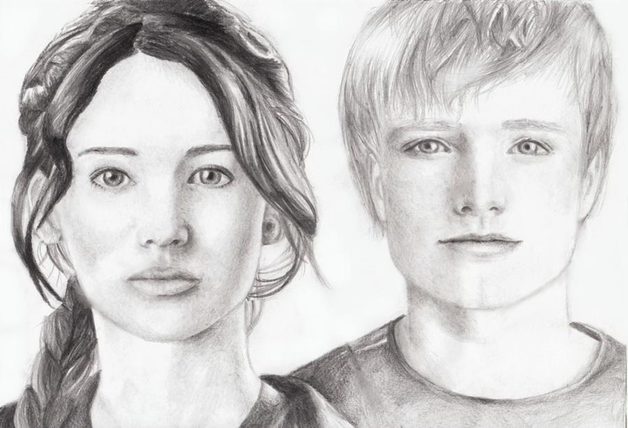 Hunger Games Peeta Drawing Hunger gamesPeeta and Katniss