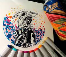 BEERTOBER17: Dragon Mask by DarkstarVampire