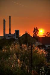 Industrial sunset by WildSammy