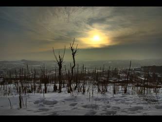 Foggy sunset _HDR_ by WildSammy