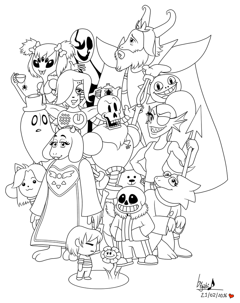 Undertale for coloring by waffle the kitten on deviantart for Undertale coloring pages
