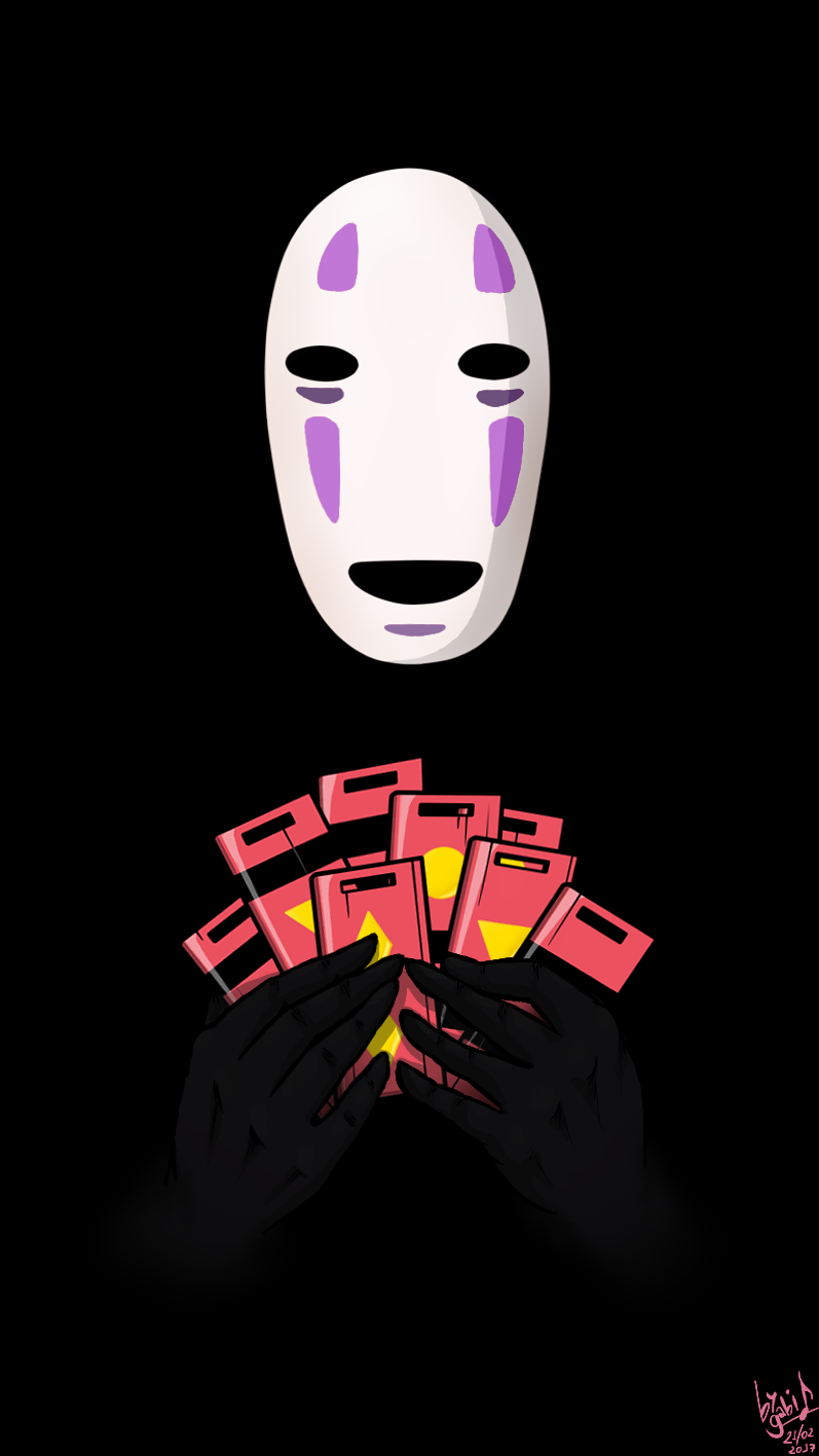 No Face Cell Phone Wallpaper By Waffle The Kitten On Deviantart