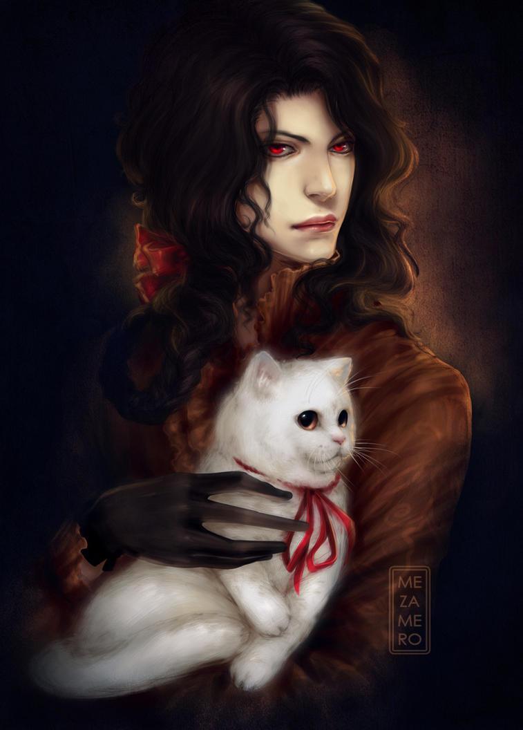 Dorian with a cat by Mezamero