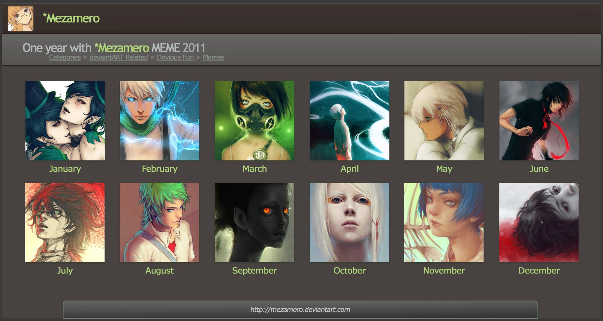 One year with Mezamero 2011 by Mezamero