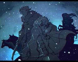 Trough the winter by Mezamero