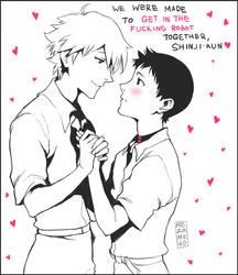 Hey, Shinji-kun by Mezamero