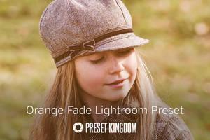 Free Orange Fade Lightroom Preset by presetkingdom