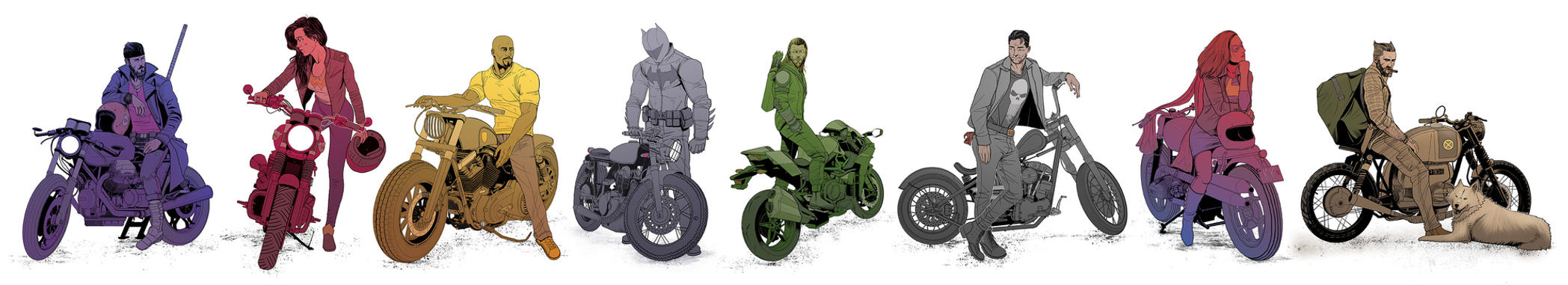Superbikes by BenBrush