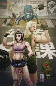 Motoko, Batou, and a Tachikoma Walk Into a Gym