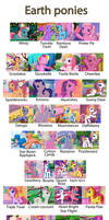 Katarakta4's Pony G3 Earth Ponies profiles Collage