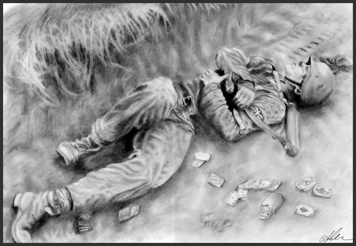 Dead Member of Waffen SS by MeTheObscure