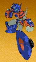 Megaman X + Optimus colours