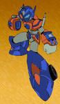 Megaman X + Optimus colours by Transformers-Mosaic