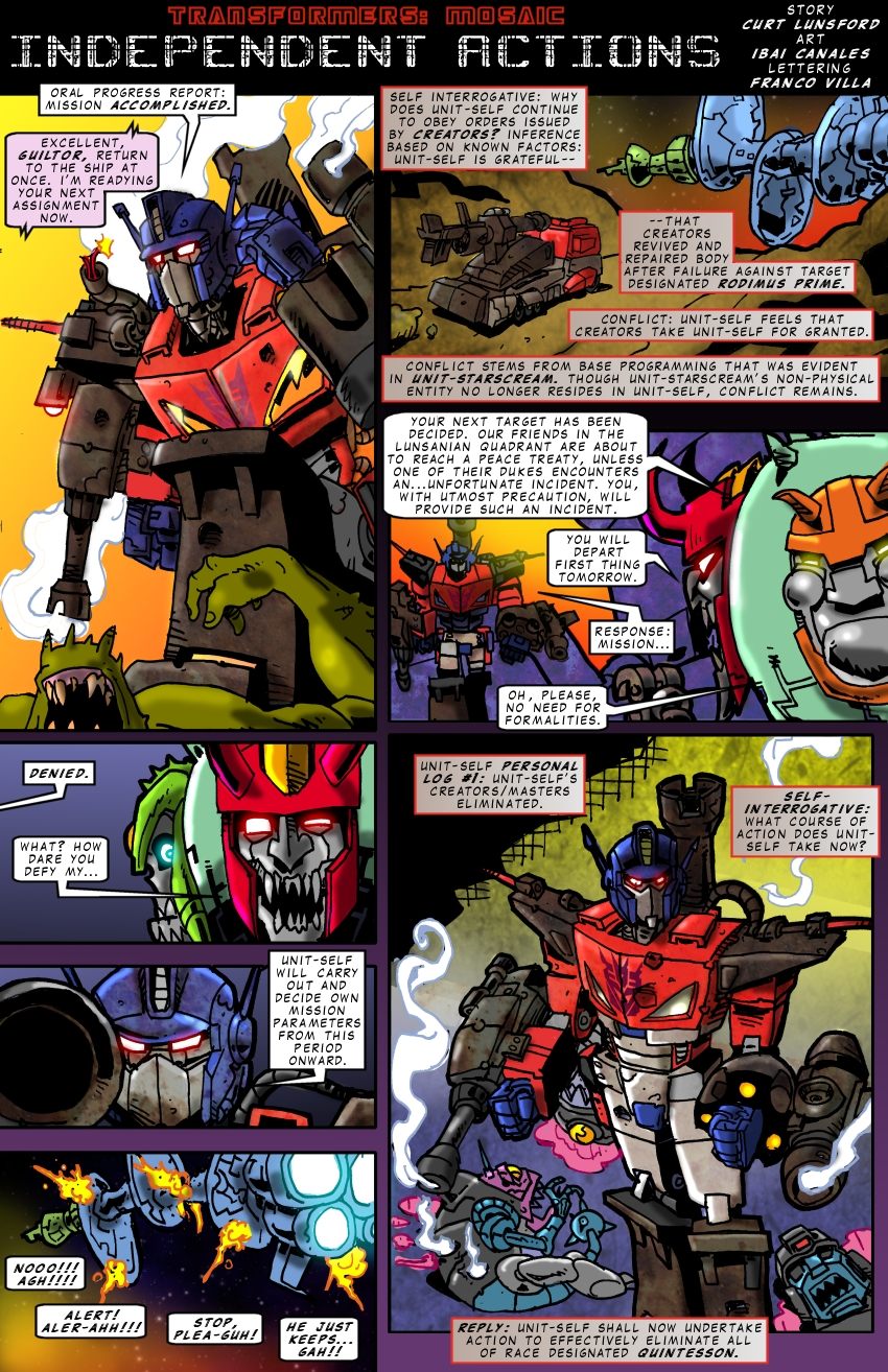 Independant Actions by Transformers-Mosaic