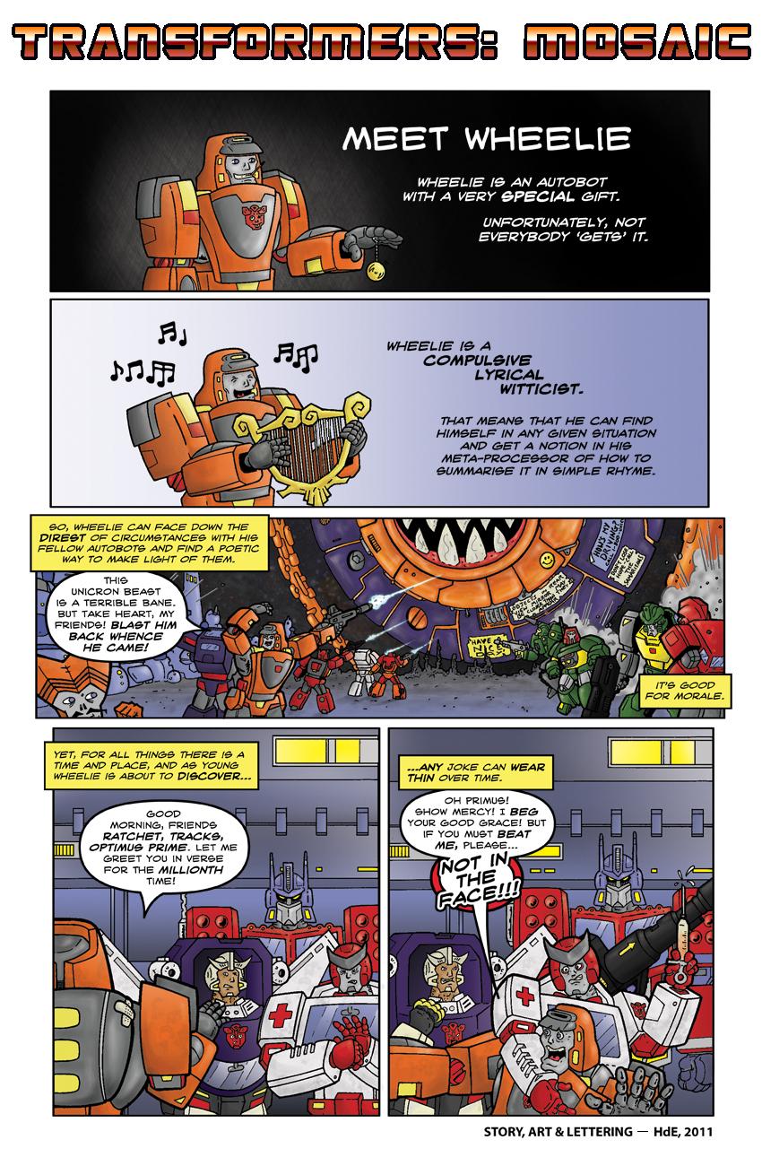 MEET WHEELIE by Transformers-Mosaic