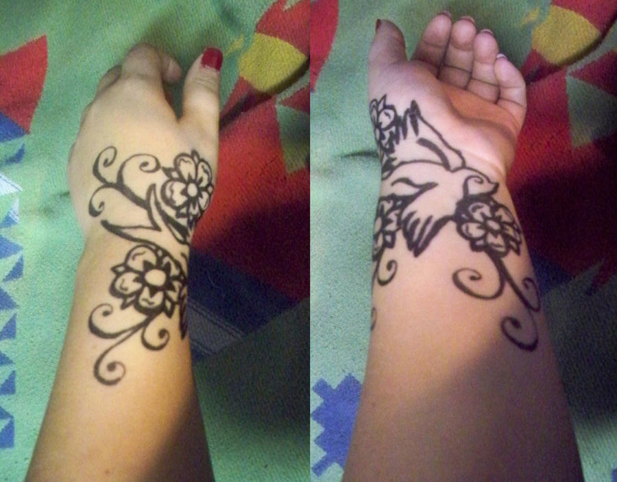 Sharpie Tattoo:Swallow:Outline by ~bueatiful-failure on deviantART