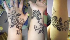 Sharpie Tattoo: Black Roses