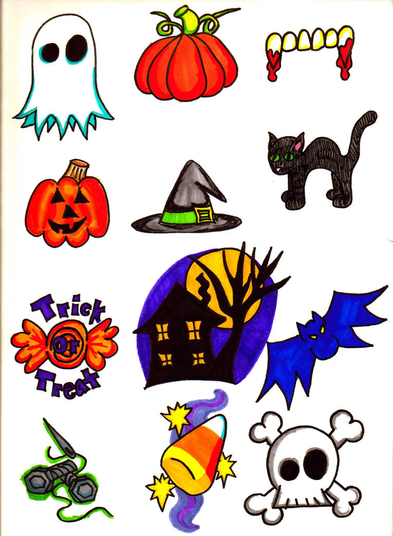 Page of Tattoos VII: Halloween by bueatiful-failure on DeviantArt