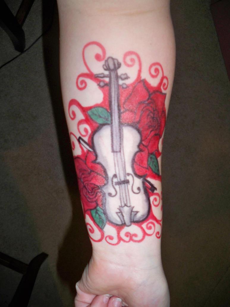 Sharpie tattoo white violin by bueatiful failure on for Sharpie tattoo designs