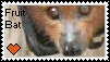 Fruit Bat Stamp by Piano-Tiger