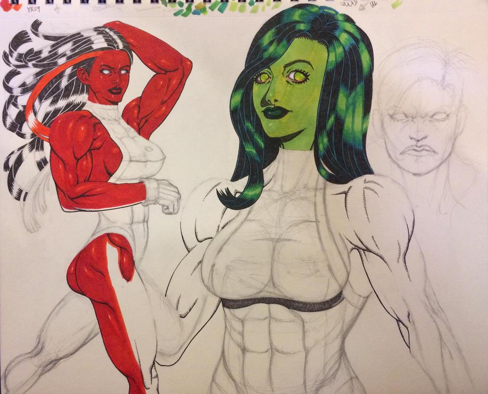 She-Hulks by MAjESTiK-one
