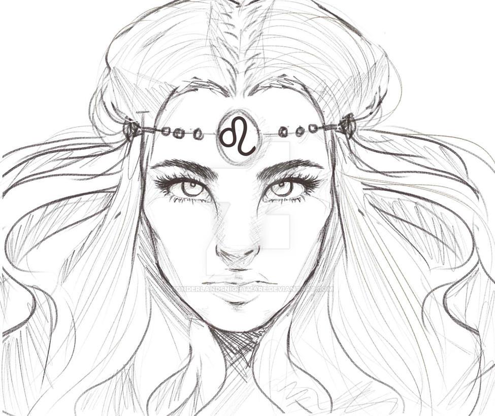 Horoscope Drawing LEO by WonderlandsNightmare