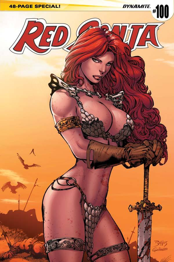 Variant Cover for Red Sonja #100 !! My Colors by alexguim
