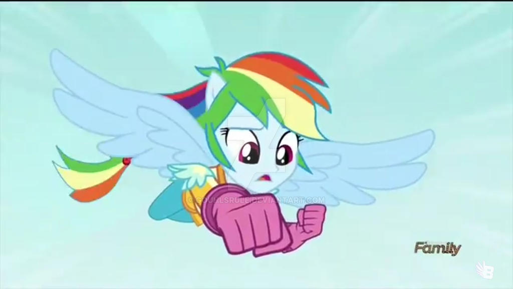 Rainbow dash flying with half-pony form by Gouhlsrule on DeviantArt