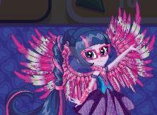 EQG Sci-Twi Crystal wings artwork by Gouhlsrule