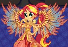 EQG sunset shimmer Crystal wings artwork by Gouhlsrule