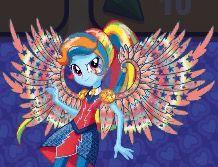 EQG rainbow dash Crystal wings artwork by Gouhlsrule