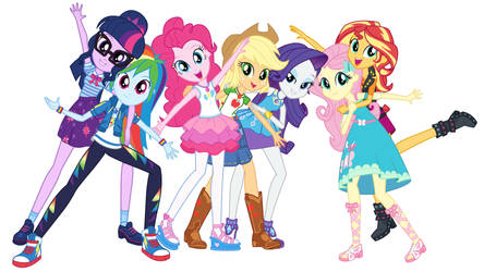 EQG Mane seven new style png 01