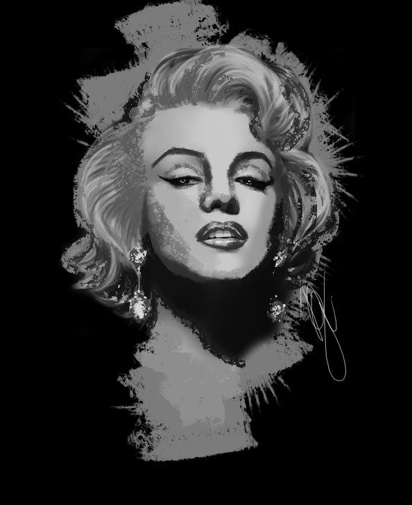 Marilyn Monroe Digital painting by GregoryNicolas