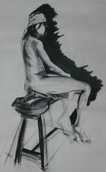 life drawing lady by Halli