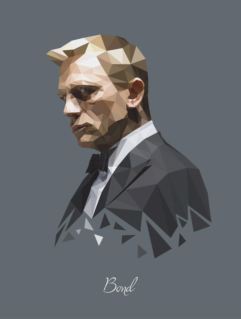 James Bond Polygon Portrait by Seventy-Eight