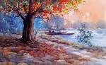 Kishor Mojumdar Watercolor Painting288