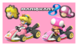 Peach and Toadette Stamp [Mario Kart 8] by PinkPrincessPeachy